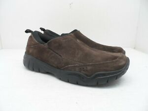 Crocs Men's Swiftwater Suede MOC Athletic Casual Shoe 203568 Brown Size 9M