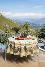 "NWT FRENCH PROVENCAL COTTON 71"" ROUND TABLECLOTH MARAT AVIGNON - Made in France"