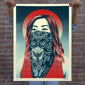 OBEY Print JUST ANGELS RISING Signed Shepard Fairey LIMITED EDITION 450 PREORDER