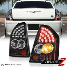 For 05-07 Chrysler SRT8 300C LED Black Tail Light Brake Signal Lamp Pair LH RH
