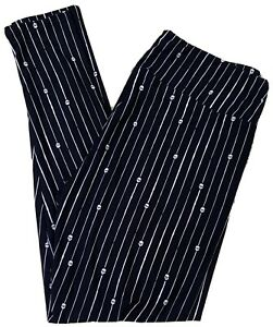 NEW LuLaRoe TC Leggings Skulls Black White Pinstripes Tall And Curvy Halloween