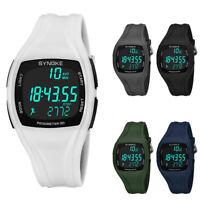 3D Pedometer Alarm Chronograph Sport Men's Digital Wrist Watch Waterproof Latest