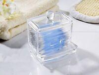 Wattestäbchen-Behälter mit Spenderfach | Wattestäbchenspender | Wattebox