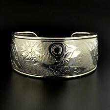 Canada Goose Sterling Hand-Engraved Northwest Coast Native Bracelet Signed