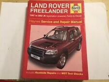 LAND ROVER FREELANDER HAYNES SERVICE REPAIR MANUAL PETROL DIESEL 1997-2002 R>52