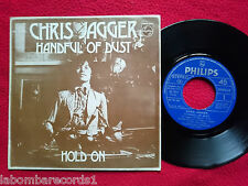 "CHRIS JAGGER Handful Of Dust 7"" 1974 RARE DIF.COVER And DIF.SIDE B MICK JAGGER 5"