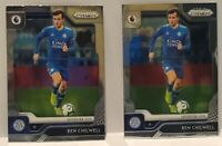 (2)-2019-20 Panini Prizm EPL Ben Chilwell Base Leicester City #74 Soccer Cards