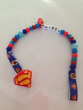 Personalised Dummy Clips - Superman - (Any Name) - Handmade