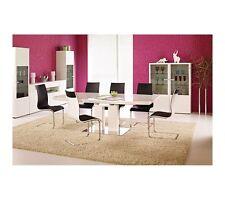Exklusiver Esstisch Säulentisch Hochglanz AUSZIEHBAR 110x180-220cm  Moderndesign