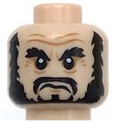Lego New Light Flesh Minifigure Head PotC Beard Black Bushy Eyebrows Pieces
