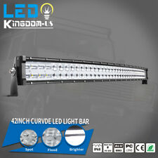 9D 42inch 560W Curved LED Light Bar Flood Spot Combo Off-Road Truck 4WD For JEEP
