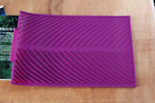 Purple Soft Silicone Dishes Drying Draining Mat for Kitchen Counter 15.3x9.8in B