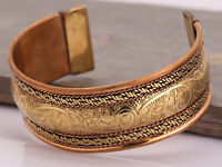 Retro Magnetic Tibetan Therapy Copper Bracelet Bangle Cuff Arthritis Pain Relief