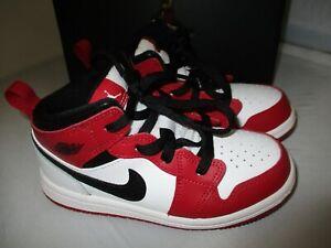 Air Jordan 1 Mid TD Chicago White Red Black BRED Origin Banned Toddler Size 9C