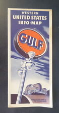1947 Western United States  road map Gulf oil  gas route 66