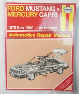 Haynes Repair Manual Ford Mustang & Mercury Capri 1979 - 1992   Manual #654