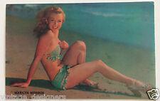 Marilyn Monroe Vintage original Lusterchrome Postcard The Charmer L40 Pinup