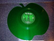 "The beatles - love me do - 7"" green vinyl apple shaped (12"" size)"