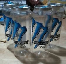 Monster Energy Hydro Water Bottles Empty Lot of 4 Crafts Upcycling