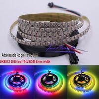 1M SK6812 MINI 3535 144led/m DC5V  addressable RGB LED pixel strip 8mm Width PC