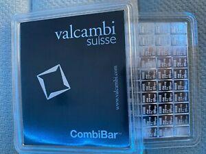 Silver Valcambi CombiBar - 100 x 1 gram (in Assay)