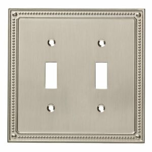 Franklin Brass W35061-SN Classic Beaded Double Switch Cover Plate