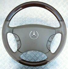 Mercedes W220 S-Klasse Lenkrad Holzlenkrad Wurzelnuss Beige Leder Original