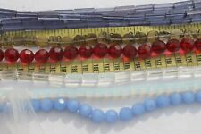 Lot Of Mixed Sizes and Color Glass Beads Crafts Jewelry Makings/# 2/9 strands
