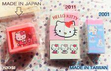 Vintage Sanrio HELLO KITTY SHARPENER Temperino JAP2001 ERASER Gommine TW2001-11