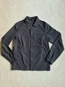 Lululemon Windbreaker Jacket Size Small Men's Black Vented Snap Close Zip