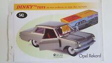 Dinky Toys Atlas - Fascicule SEUL de l'Opel Rekord (Booklet only)