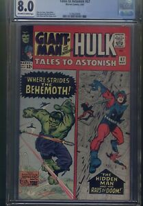 TALES TO ASTONISH #67 CGC 8.0 Universal Blue label INCREDIBLE HULK 1965
