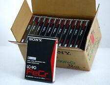 12 pcs. SONY LC-90 FeCr ELCASET Cassette NEU/OVP! NOS!! für EL-7/EL-5/RS-7500US!