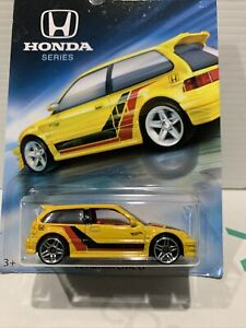 2018 Hot Wheels HONDA 70th Anniversary '90 HONDA CIVIC  EF in Yellow. No.2 of 8.