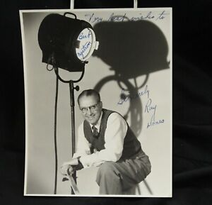 Ray Jones Universal Studio Head Studio Photographer Hand Signed Photo