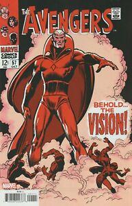 Avengers #57 (Facsimile Edition / Behold the Vision / WandaVision / 1968 / NM)