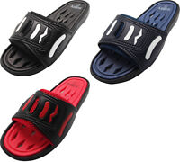 Norty Mens Summer Comfort Casual Slide Flat Strap Shower Sandals Slip On Shoes