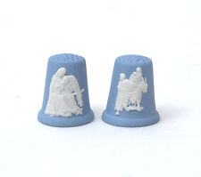 Wedgwood Jasperware Annual Christmas Thimbles - 1990 Virgin & Flight Into Egypt