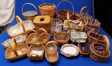 21 Longaberger Baskets LOT Inaugural July 4th Collector's Club Miniature Liner