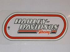 "HARLEY DAVIDSON RACING OVAL VINTAGE (INSIDE) DECAL 4.75"" X 2.25"" NEW"