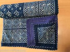 Indian Handmade Quilt Vintage Kantha Bedspread Throw Cotton Blanket Gudari Twin@