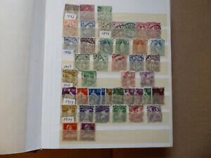 Schweiz Sammlung in kleinem Steckbuch meist gestempelt viele Sätze