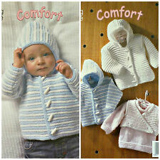 Knitting Pattern Baby Pull à Manches Longues Veste Body Warmer DK King Cole 3013