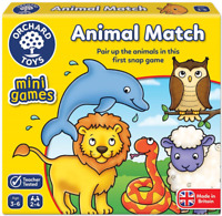 Orchard Toys 363 Animal Match Pairs Travel Mini Game Children Toddler 3 Years+