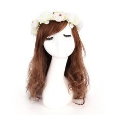 Women Girls Boho Flower Floral Hairband Headband Crown Party Bride Wedding Pip