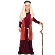 Child Shepherd Red Nativity Christmas Play Fancy Dress Costume