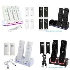 Dual Charger Charging Dock Station + Battery For Wii / Wii U Remote Controller