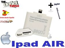 LECTOR TARJETAS IPAD AIR CAMERA  CONNECTION KIT adaptador SD USB