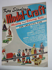 VINTAGE 1950s MODEL-CRAFT CATALOG! DISNEY CHARACTERS! MICKEY/WIZARD OF OZ/BAMBI!