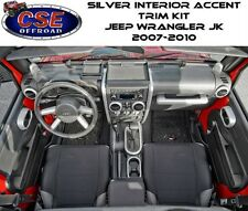 Silver Interior Accent Trim Kit Manual Transmission & Windows Jeep Wrangler JK